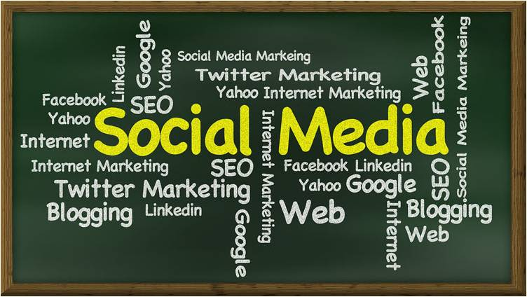 Social Media Chalkboard